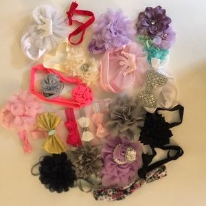 Other - Lot of Baby Girl Hair Bow and Headbands